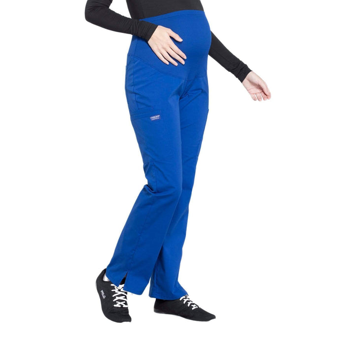 Cherokee Scrubs Pants Cherokee Workwear Professionals WW220 Scrubs Pants Maternity Straight Leg Galaxy Blue