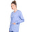 Cherokee Scrubs Jacket Cherokee Workwear Professionals WW340 Scrubs Jacket Women's Snap Front Warm-up Ceil Blue