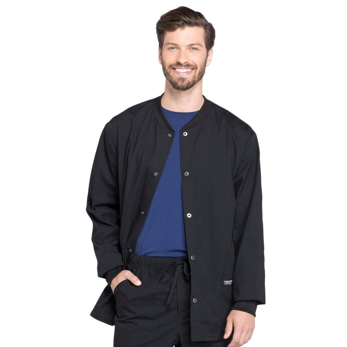 Cherokee Scrubs Jacket 2XL Cherokee Workwear Professionals WW360 Scrubs Jacket Men's Warm-up Black