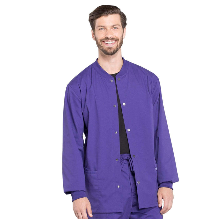 Cherokee Scrubs Jacket 2XL Cherokee Workwear Professionals WW360 Scrubs Jacket Men's Warm-up Grape