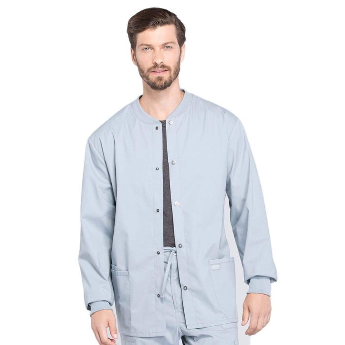 Cherokee Scrubs Jacket 2XL Cherokee Workwear Professionals WW360 Scrubs Jacket Men's Warm-up Grey