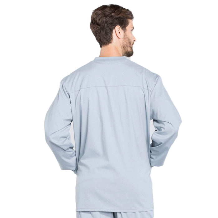 Cherokee Scrubs Jacket Cherokee Workwear Professionals WW360 Scrubs Jacket Men's Warm-up Grey