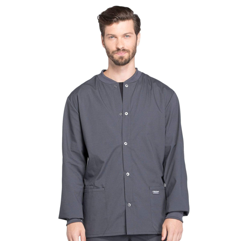 Cherokee Scrubs Jacket 2XL Cherokee Workwear Professionals WW360 Scrubs Jacket Men's Warm-up Pewter