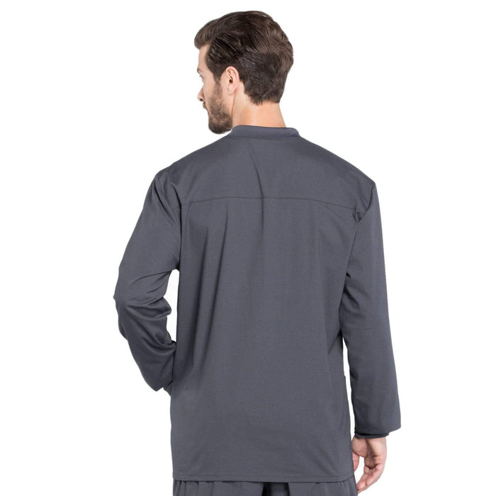 Cherokee Scrubs Jacket Cherokee Workwear Professionals WW360 Scrubs Jacket Men's Warm-up Pewter