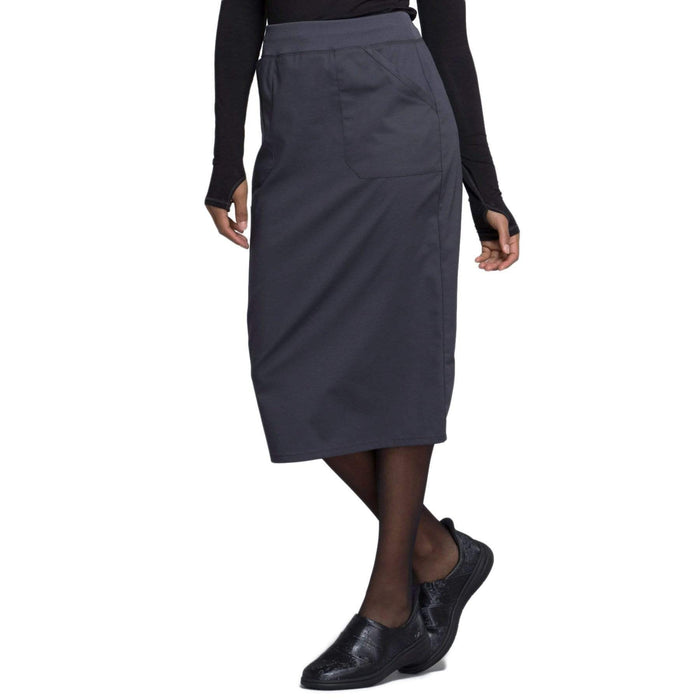 "Cherokee Skirt Cherokee Workwear Professionals WW510 Skirt Women's 30"" Knit Waistband Skirt Pewter"