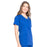 Cherokee Scrubs Top Cherokee Workwear Professionals WW655 Scrubs Top Women's Mock Wrap Galaxy Blue