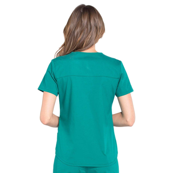 Cherokee Scrubs Top Cherokee Workwear Professionals WW665 Scrubs Top Women's V-Neck Hunter Green