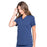 Cherokee Scrubs Top Cherokee Workwear Professionals WW665 Scrubs Top Women's V-Neck Navy