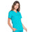Cherokee Scrubs Top Cherokee Workwear Professionals WW665 Scrubs Top Women's V-Neck Teal Blue