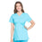 Cherokee Scrubs Top 2XL Cherokee Workwear Professionals WW685 Scrubs Top Maternity Mock Wrap Turquoise