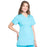 Cherokee Scrubs Top Cherokee Workwear Professionals WW685 Scrubs Top Maternity Mock Wrap Turquoise