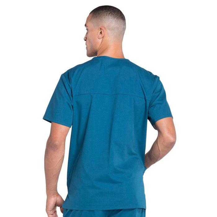Cherokee Scrubs Top Cherokee Workwear Professionals WW695 Scrubs Top Men's V-Neck Caribbean Blue