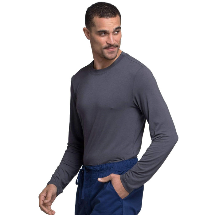 Cherokee Underscrubs Cherokee Workwear Professionals WW700 Underscrubs Men's Knit Pewter