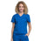 Cherokee Scrubs Top 2XL Cherokee Workwear Professionals WW705 Scrubs Top Women's Mock Wrap Royal