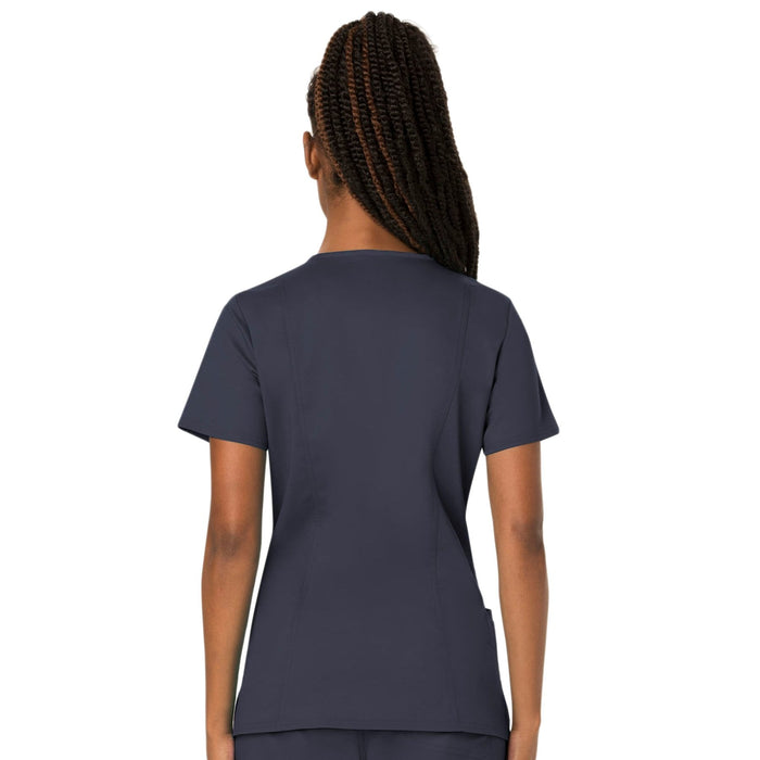 Cherokee Scrubs Top Cherokee Workwear Revolution WW620 Scrubs Top Women's V-Neck Pewter
