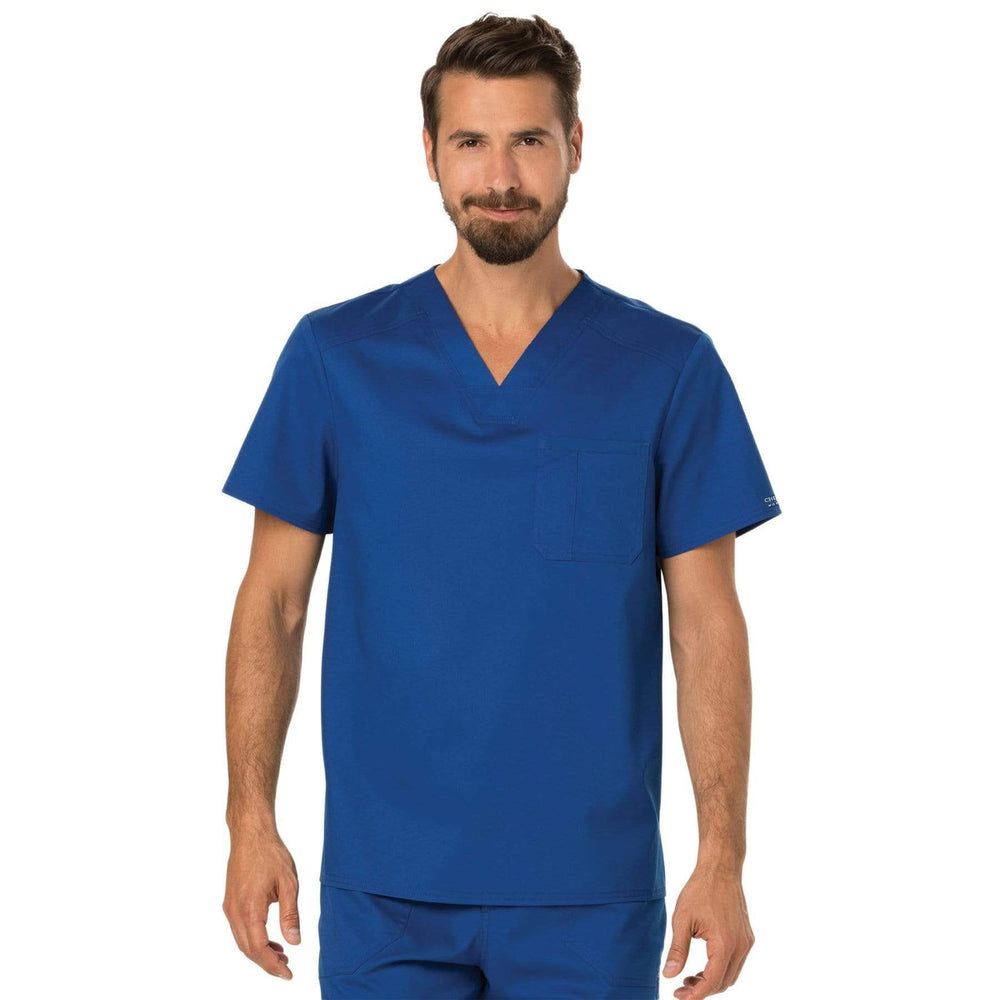 Cherokee Scrubs Top 2XL Cherokee Workwear Revolution WW690 Scrubs Top Men's V-Neck Galaxy Blue
