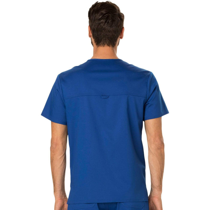 Cherokee Scrubs Top Cherokee Workwear Revolution WW690 Scrubs Top Men's V-Neck Galaxy Blue