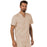 Cherokee Scrubs Top Cherokee Workwear Revolution WW690 Scrubs Top Men's V-Neck Khaki
