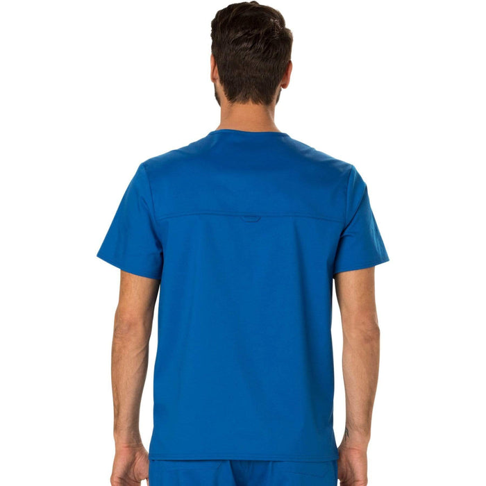 Cherokee Scrubs Top Cherokee Workwear Revolution WW690 Scrubs Top Men's V-Neck Royal