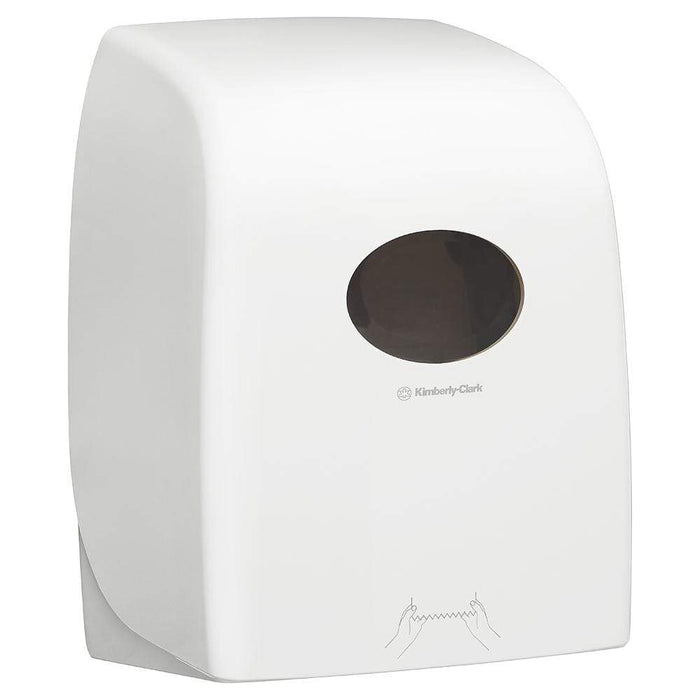 Kimberly Clark Hand Towel Dispenser White Lockable ABS Plastic / 6765 1005 & 6668 Codes Kimberly-Clark Hand Towel Roll Dispensers