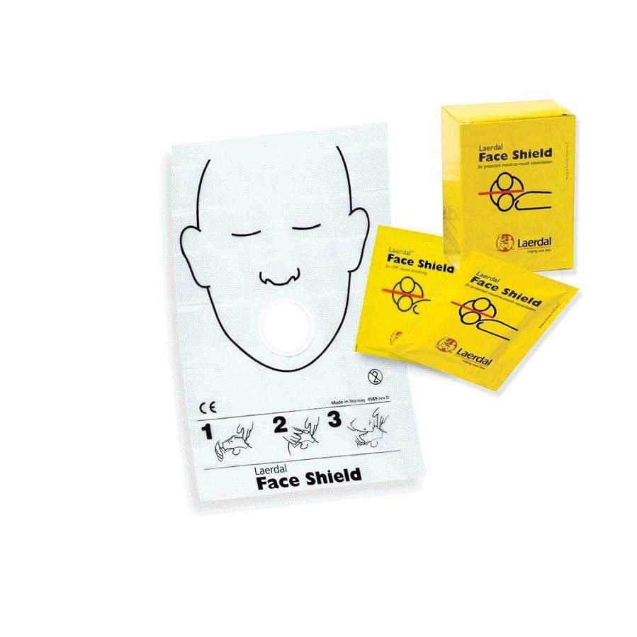 Laerdal CPR Face Shield Laerdal Patient Face Shield in Sachet