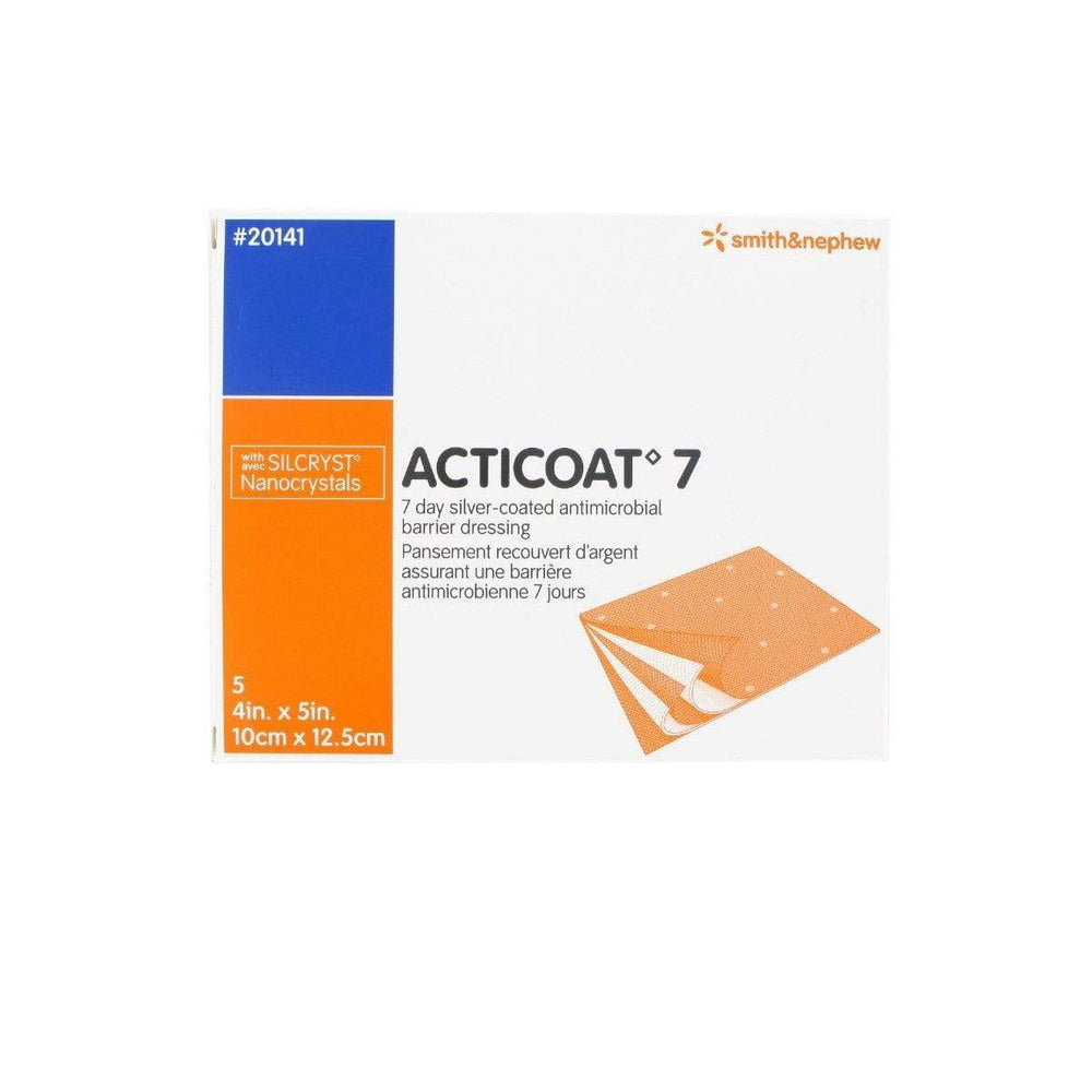 Smith & Nephew Antimicrobial Barrier Dressing 10x12.5cm / Box5 Smith & Nephew Acticoat 7 Antimicrobial Silver Dressing