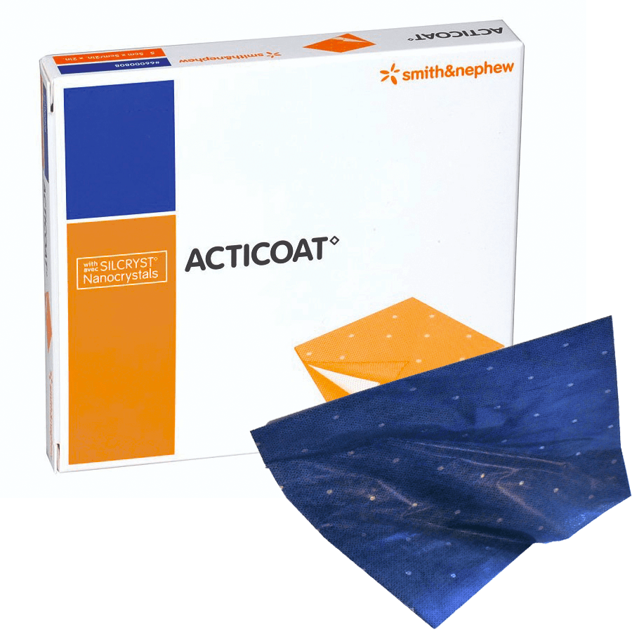 Smith & Nephew Antimicrobial Barrier Dressing 10x10cm / Box12 Smith & Nephew Acticoat Antimicrobial Silver Dressing