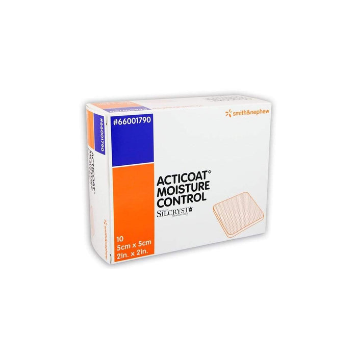 Smith & Nephew Antimicrobial Barrier Dressing 5x5cm Smith & Nephew Acticoat Moisture Control Antimicrobial Silver Dressing