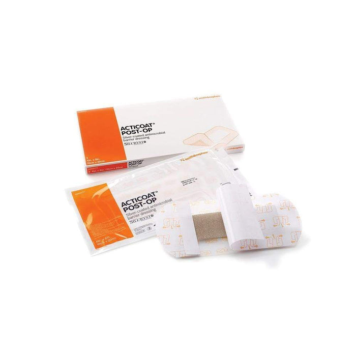 Smith & Nephew Antimicrobial Barrier Dressing 10cm x 20cm Smith & Nephew Acticoat Post-Op Dressing