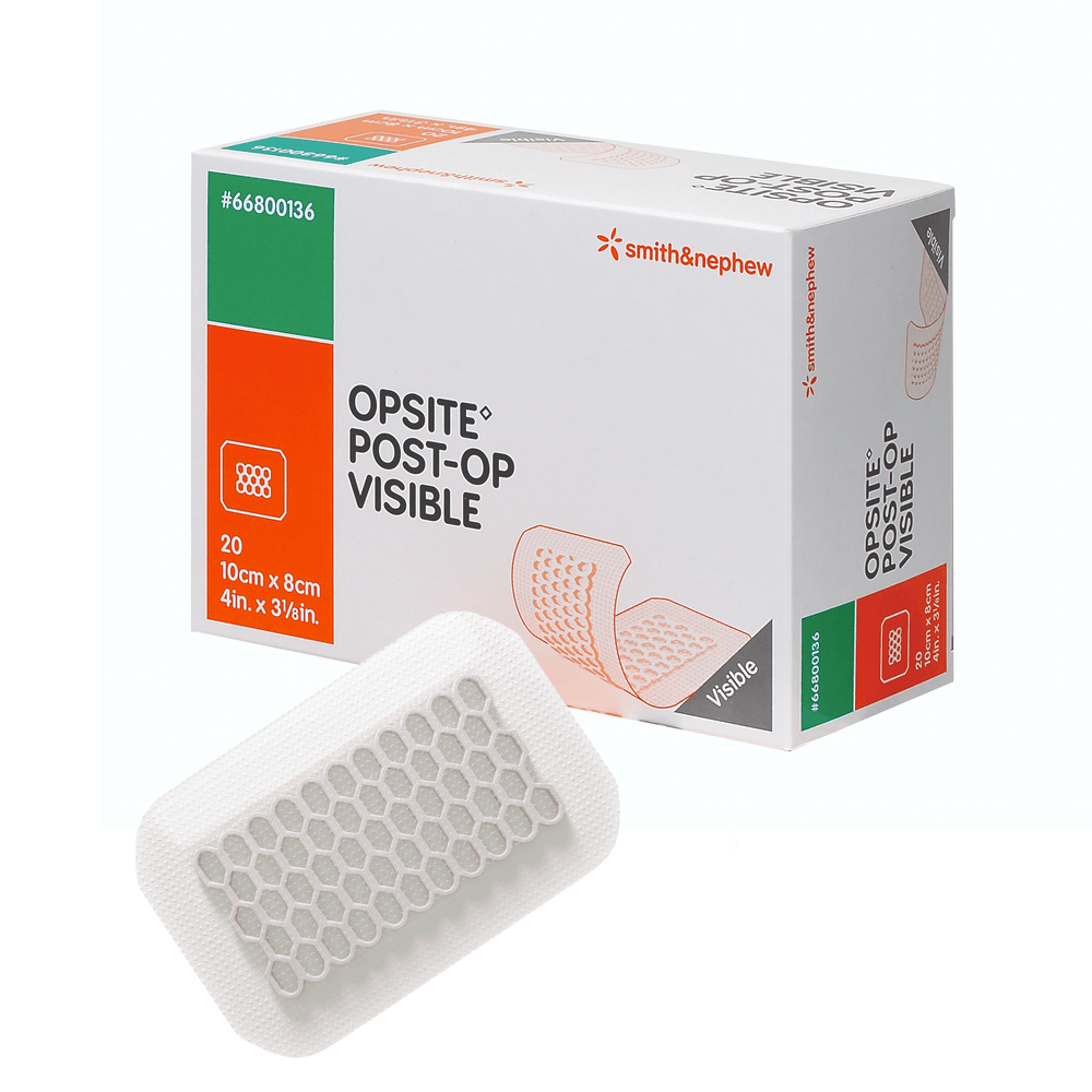 Smith & Nephew Island Dressings 10x8cm Smith & Nephew Opsite Post-Op Visible Dressing with Absorbent Pad