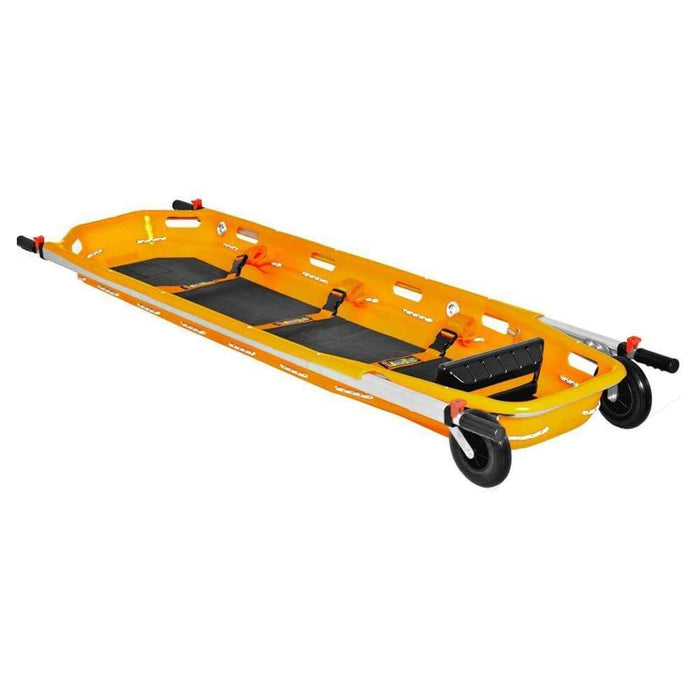 Spencer Stretchers Spencer Dakar Shell Basket Stretcher with Wheels Matress and Footrest Orange