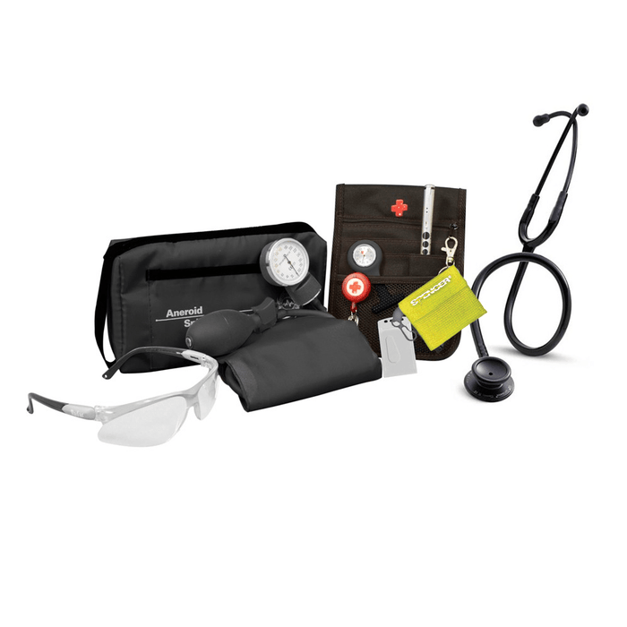 Medshop Littmann Nursing Kits Student Nursing Pack Littmann Classic III Black Edition