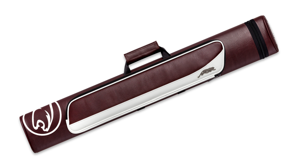Roadline 2x4 Burgundy White Hard Case