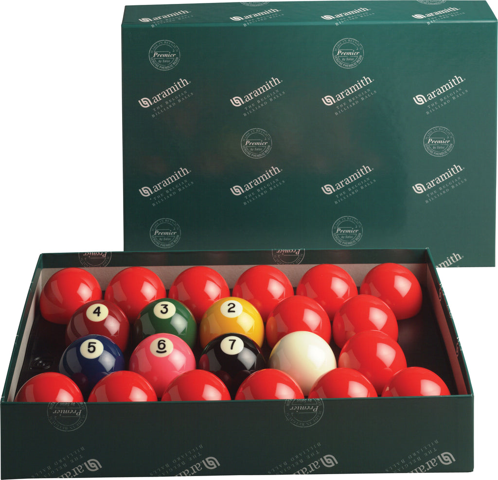 2 1/4 Aramith Numbered Snooker Set
