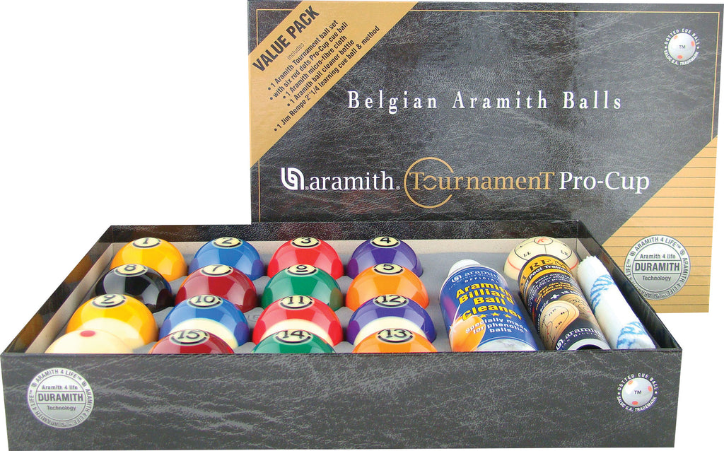 Aramith Tournament Pro Cup Value Pack Ball Set