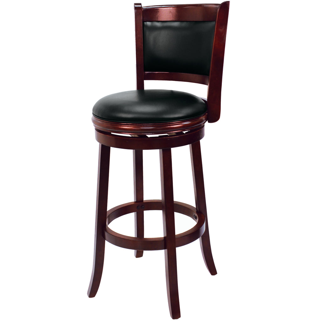 BACKED BARSTOOL - ENGLISH TUDOR