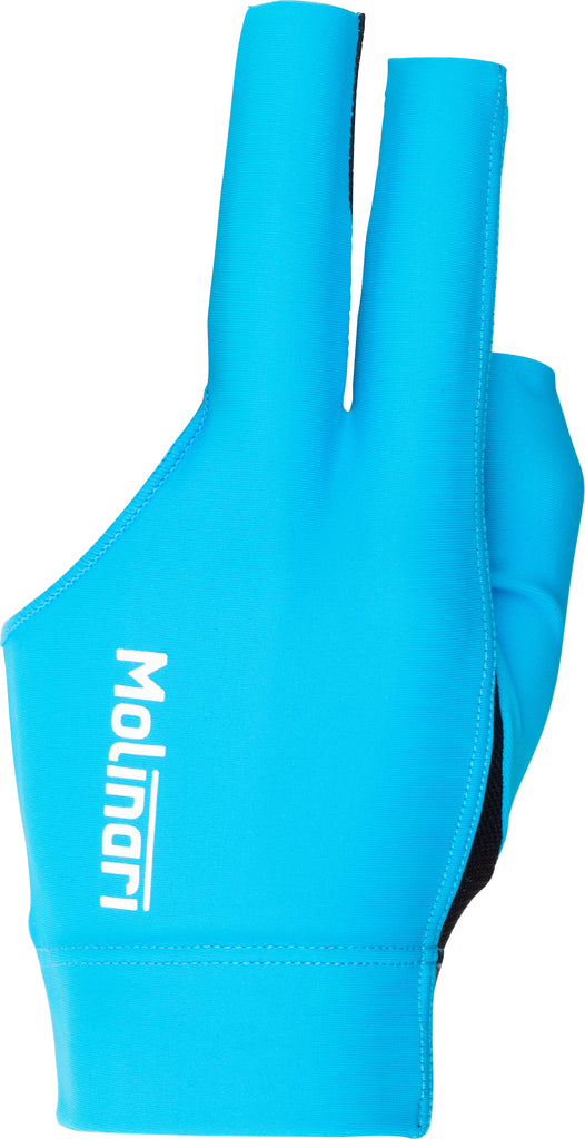 Molinari BGLMOL Billiard Glove - Small Cyan
