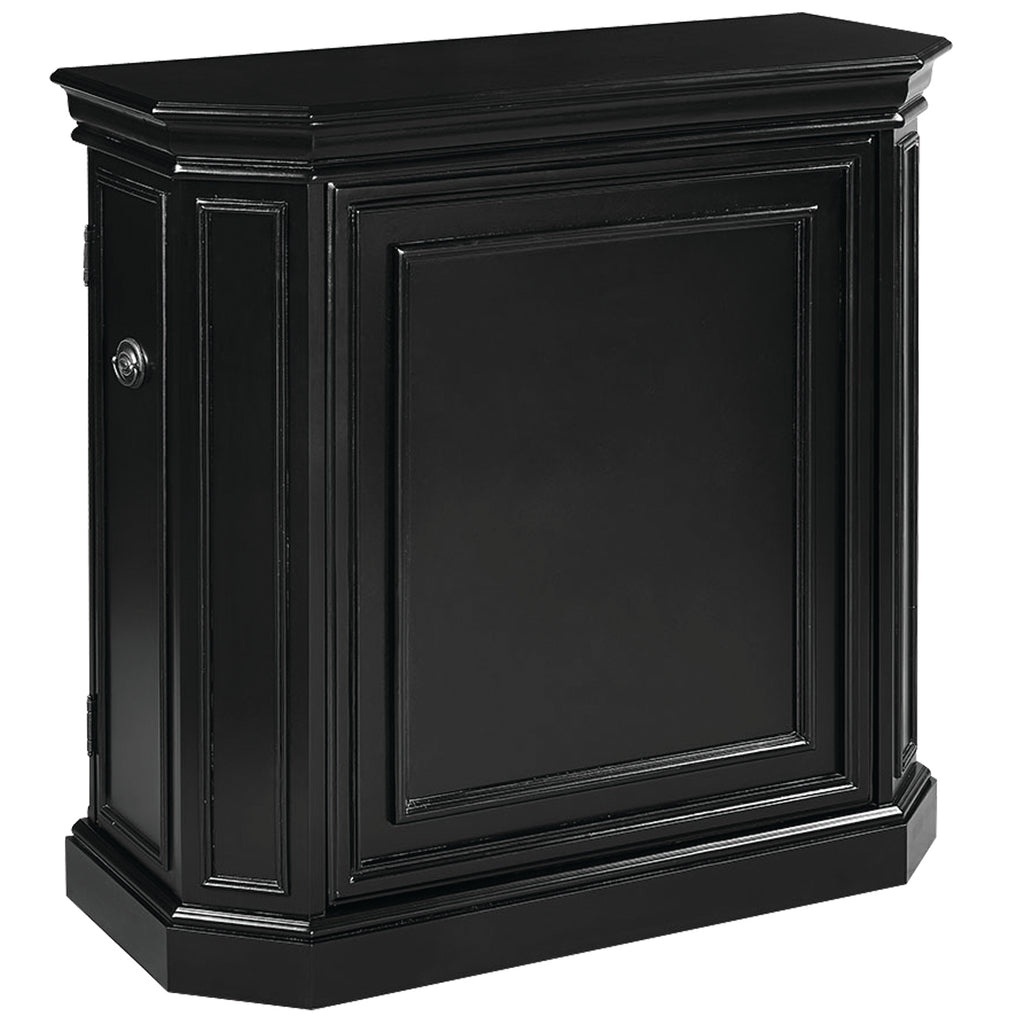 BAR CABINET W/ SPINDLE - BLACK