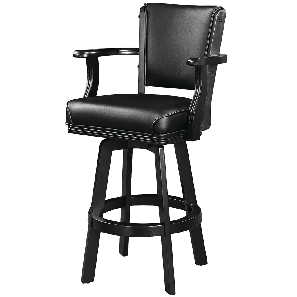SWIVEL BARSTOOL WITH ARMS-BLACK