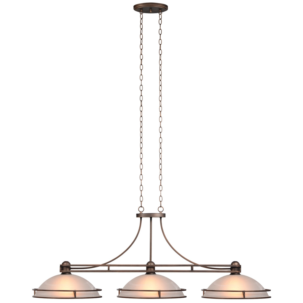 "COSMOPOLITAN - 56"" 3LT BILLIARD LIGHT-BRONZE"