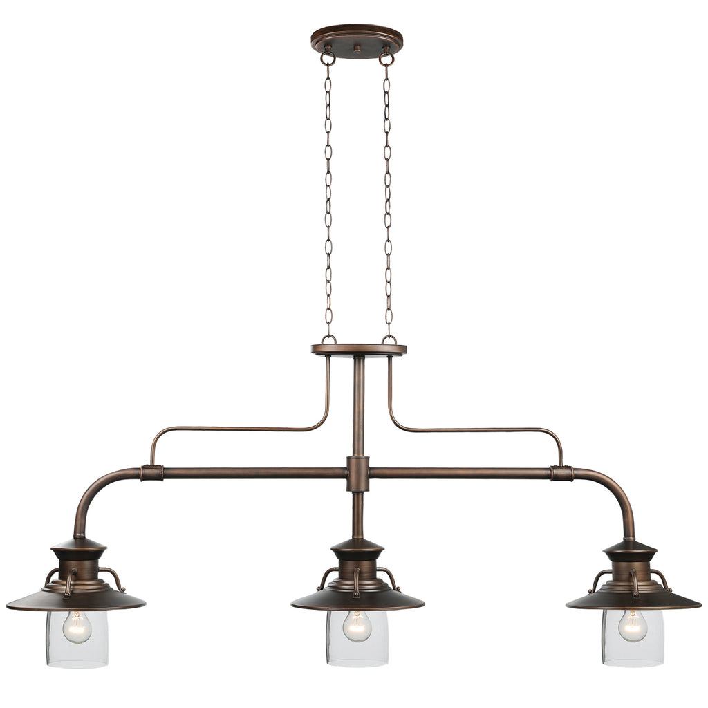 "EDISON - 60"" 3LT BILLIARD LIGHT"