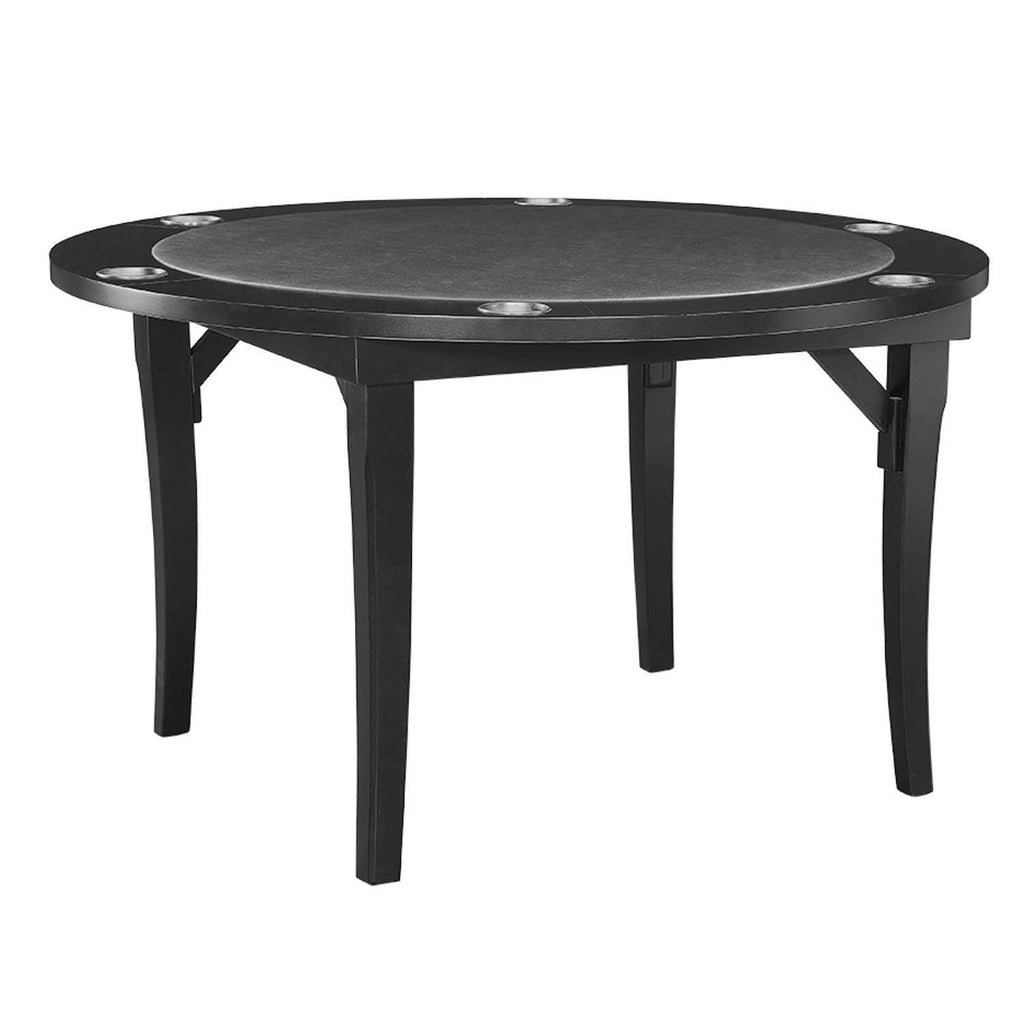 "48"" FOLDING GAME TABLE - BLACK"