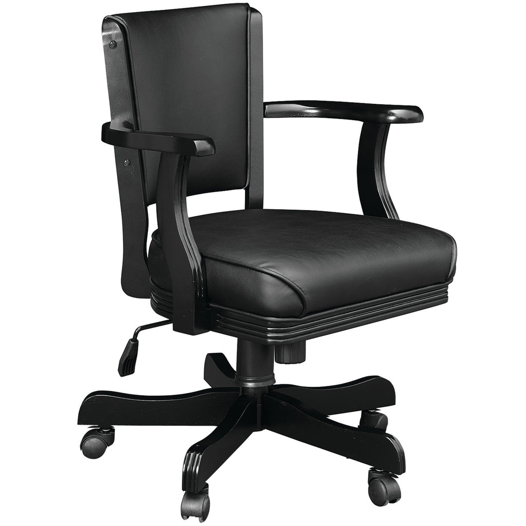 SWIVEL GAME CHAIR - BLACK