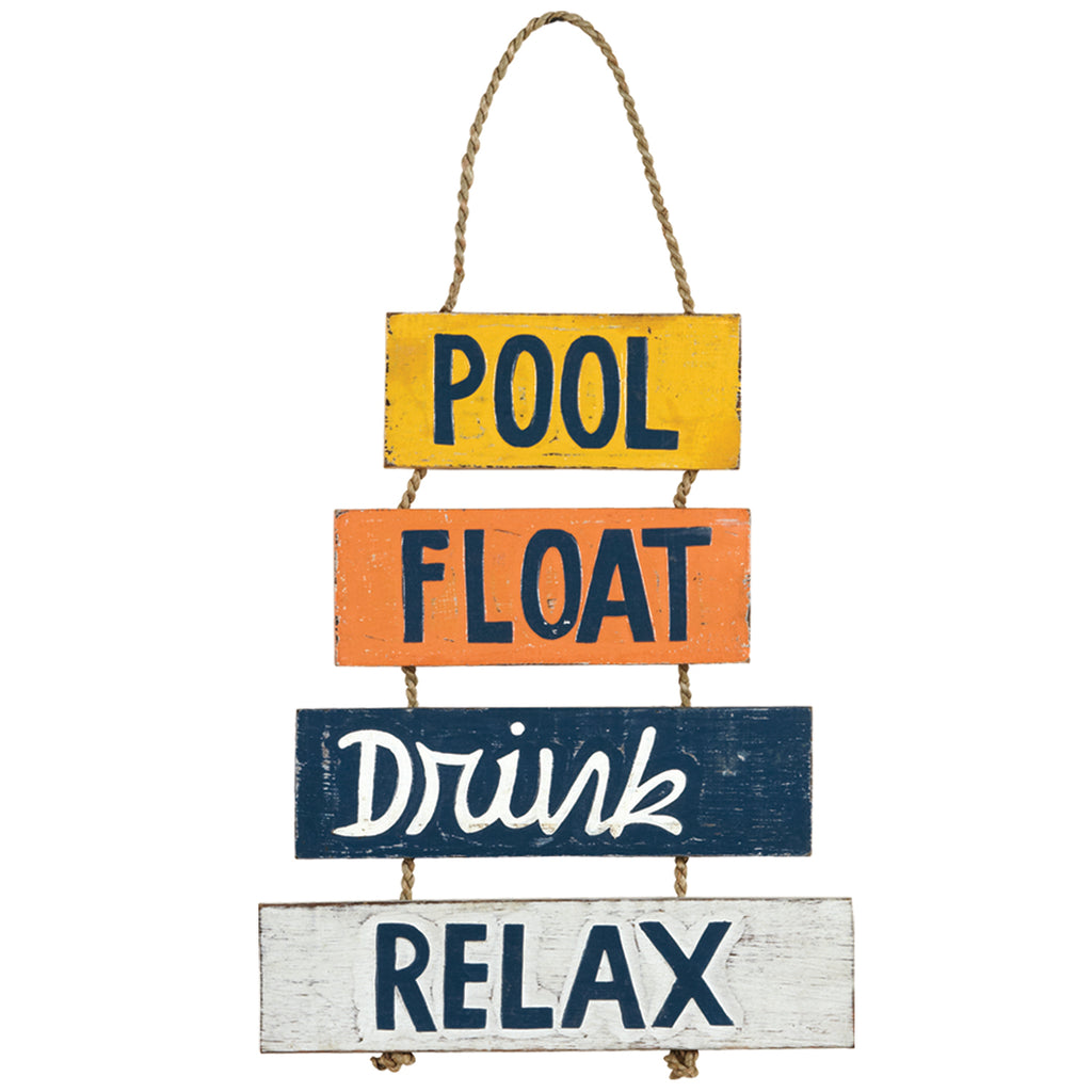 POOL, FLOAT, DRINK, RELAX