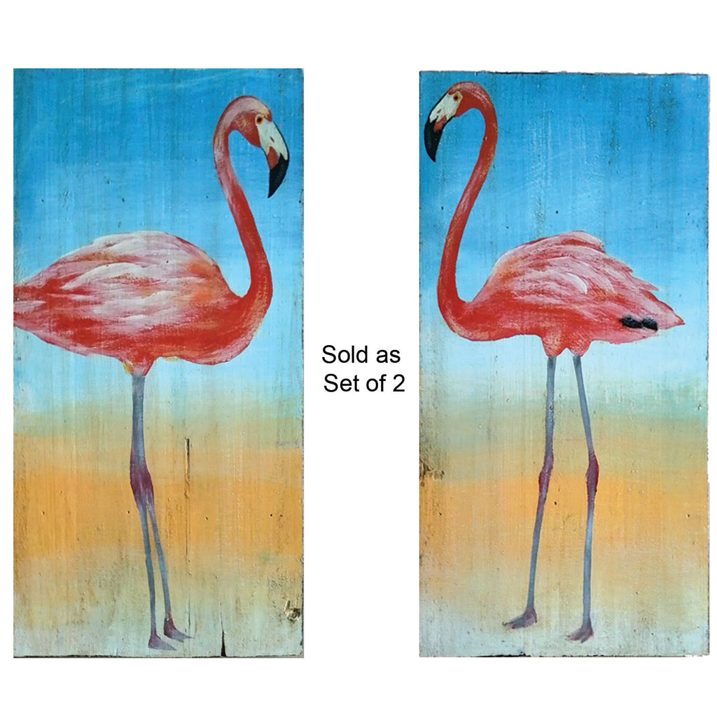 FLAMINGO SIGNS (SET OF TWO)