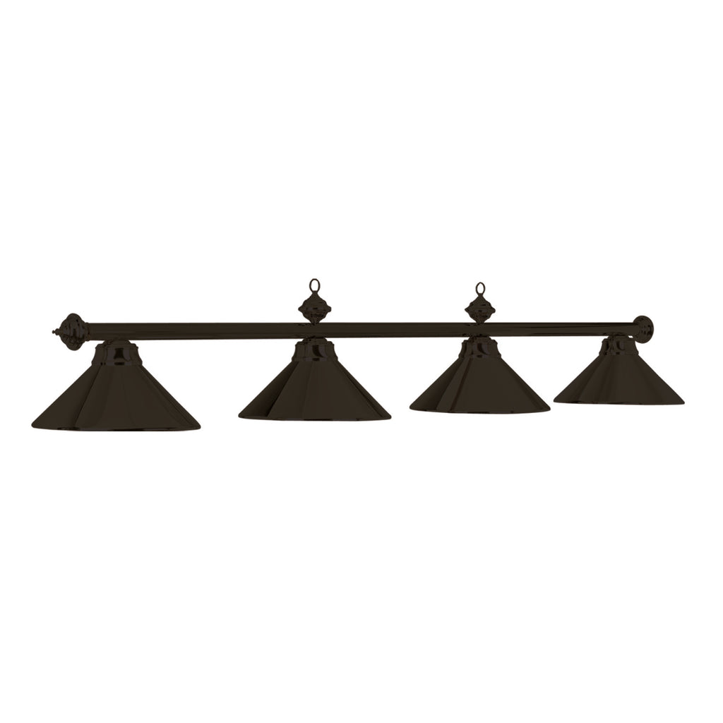 "78"" 4 LT BILLIARD LIGHT-MATTE BLK/ ST"
