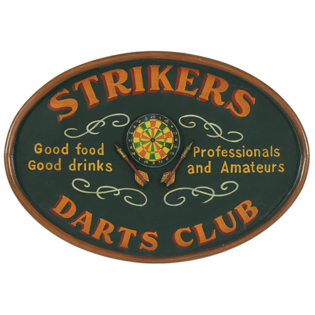PUB SIGN-STRIKERS DARTS CLUB