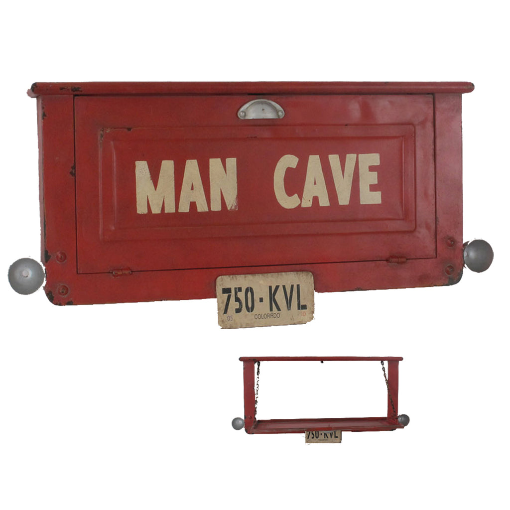 METAL SIGN-MAN CAVE SHELF
