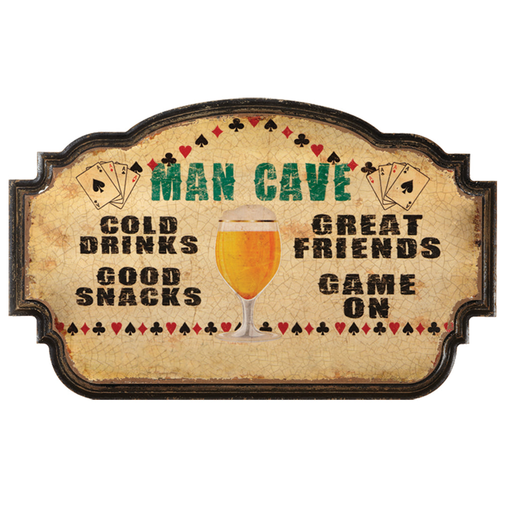 MAN CAVE-COLD DRINKS, GOOD SNACKS