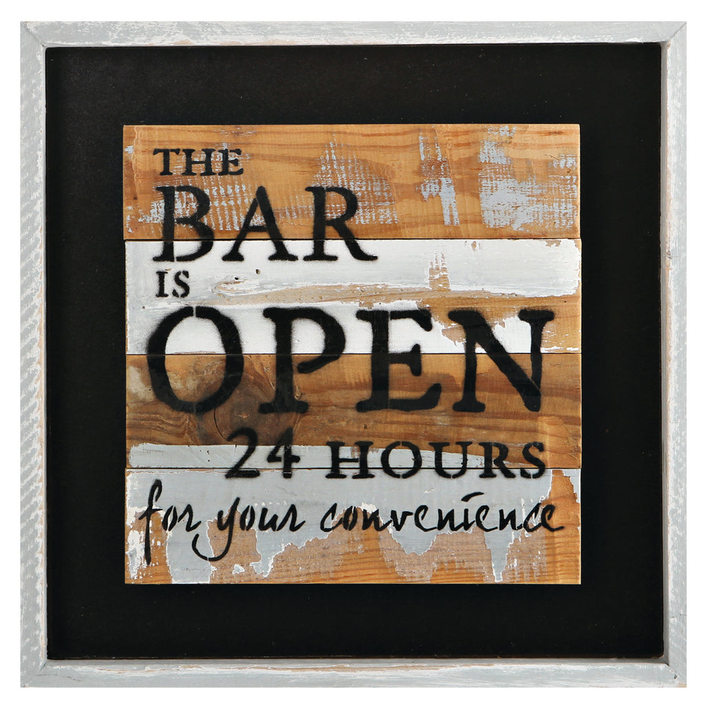 BAR IS OPEN 24HRS LED SIGN